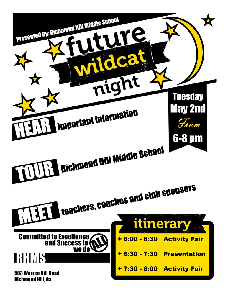 Future Wildcat Night for Rising 6th Graders and Families