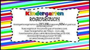 Register Now for 2017-18 Kindergarten!