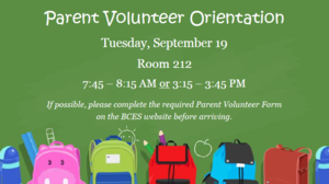 Parent Volunteer Orientation