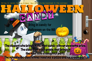 Candy Contest for Halloween on the Hill