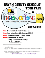 Bryan County Schools Tech Fair and Innovation Expo 2017-2018