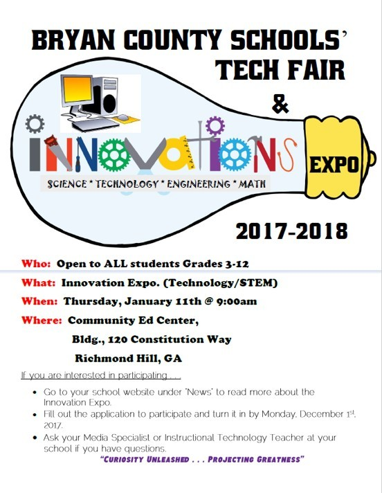 Bryan County Schools Tech & Innovation Expo