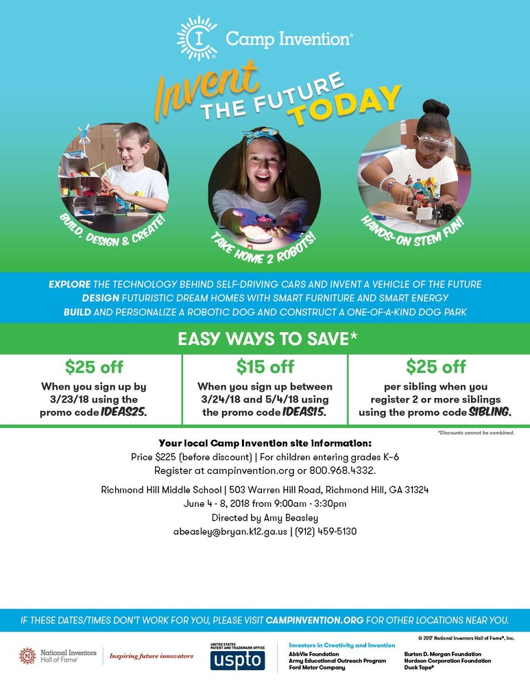 Camp Invention:Summer Opportunity for students