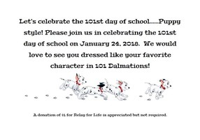 101st Day of School Celebration