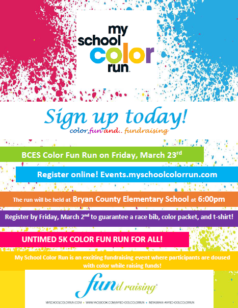 Bryan County Elementary School'c Color Fun Run!