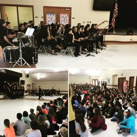 Band, Chorus, and Orchestra Performs
