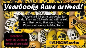 Last Call for RHES Yearbooks!