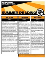 Advanced Content Summer Reading Lists