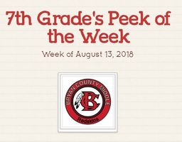 7th Grade Peek of the Week