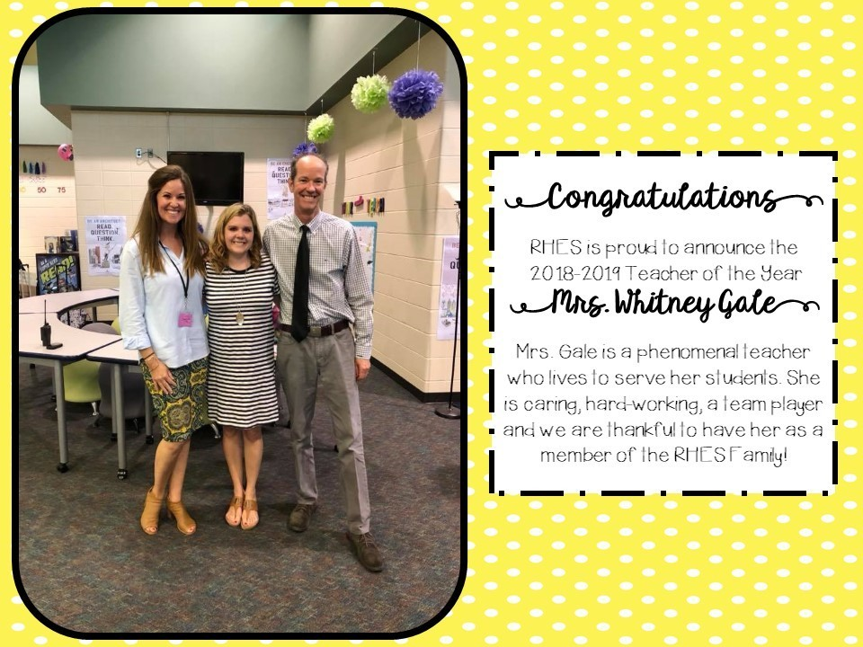 RHES 2018-2019 Teacher of the Year