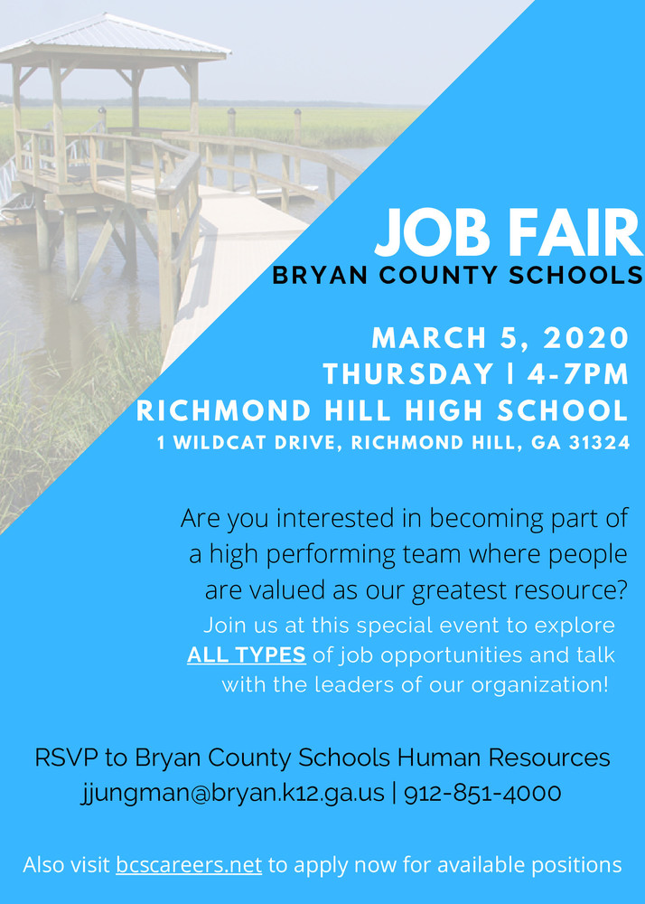 Bryan County Schools Job Fair