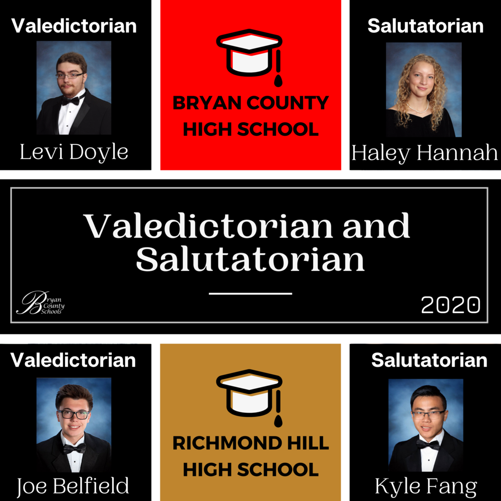 2020 Valdictorians and Salutatorians