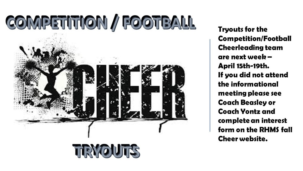 Tryouts - Competition or Football Cheerleading