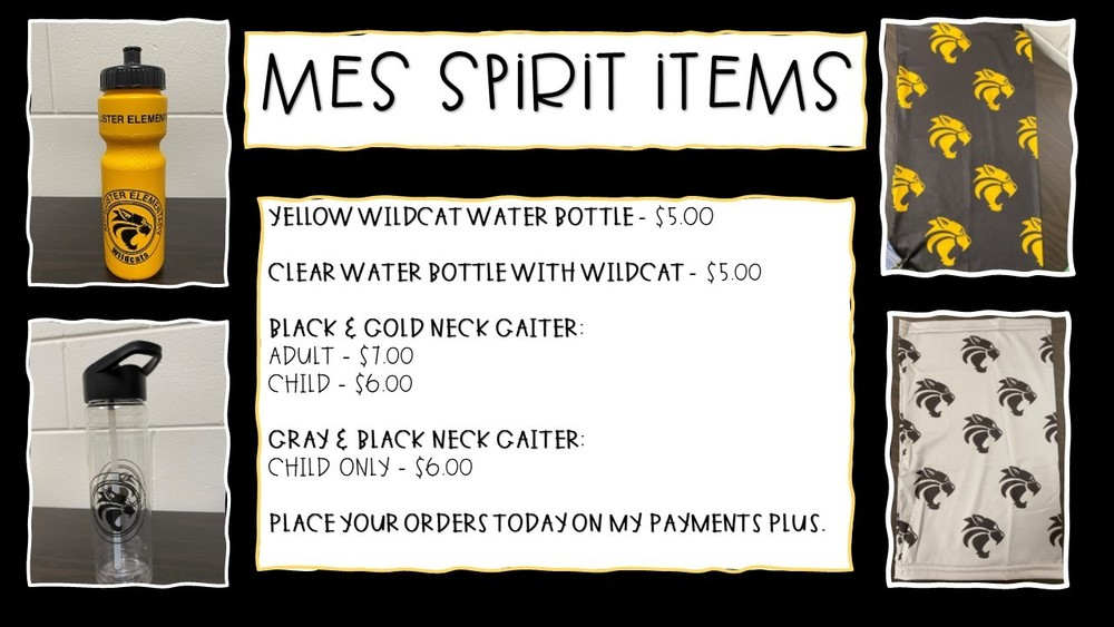 MES Spirit Items on Sale