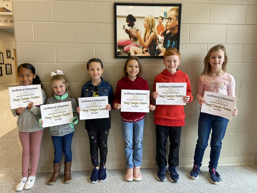 MES Young Georgia Author Winners