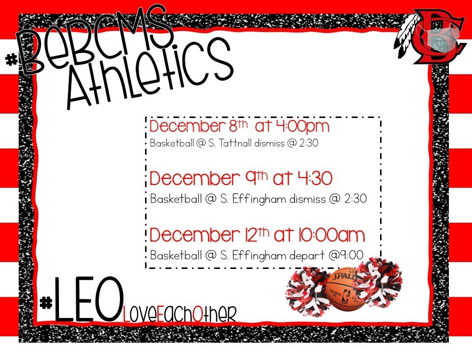 Upcoming Athletic Events - Week of December 07