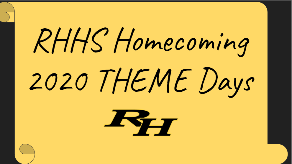 Homecoming 2020 Theme Days!
