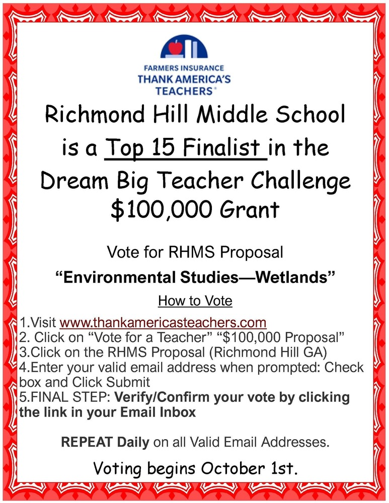 Dream Big Teacher Challenge