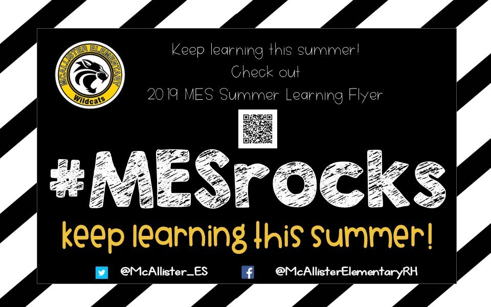 MES Summer Learning Flyer 2019