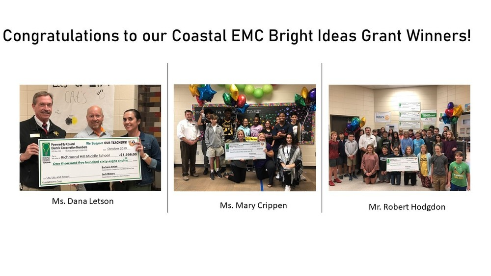 RHMS Bright Ideas Grant Winners