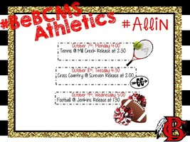 #BeBCMS Athletic Update - Week of Oct 7