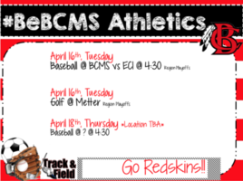 #BeBCMS Athletics