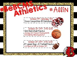 Upcoming Athletic Events