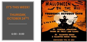 Halloween on the Hill is Thursday!