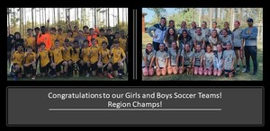 Soccer Teams are Region Champions!