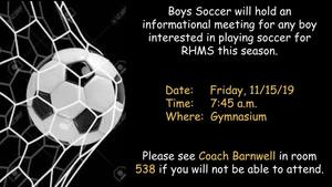 Boys Soccer Meeting