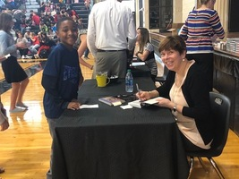 Author Kirby Larson visits RHMS