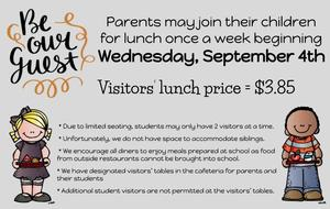 Welcome Lunch Visitors at MES-Sept. 4th