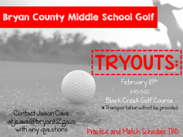 BCMS Golf Tryouts