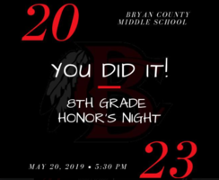 8th Grade Honor's Night!