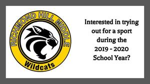 Interested in sports for the 2019 - 2020 School Year?