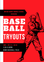 BCMS Baseball Tryouts
