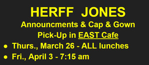 UPDATE: Herff Jones PICK UP Dates