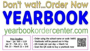 Order Your Yearbook Now!  Don't Wait!
