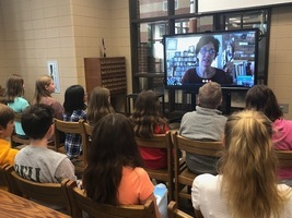 Students participate in Skype with Author