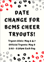 BCMS Cheer Tryouts