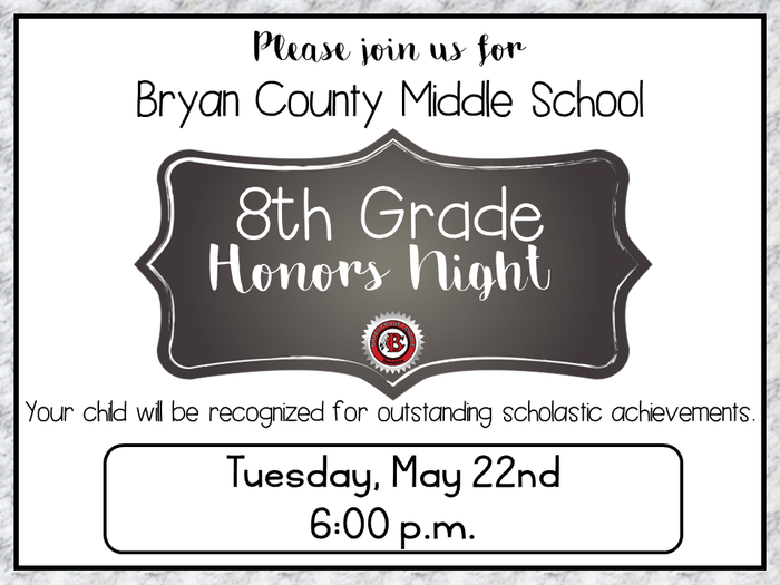 8th grade honors night