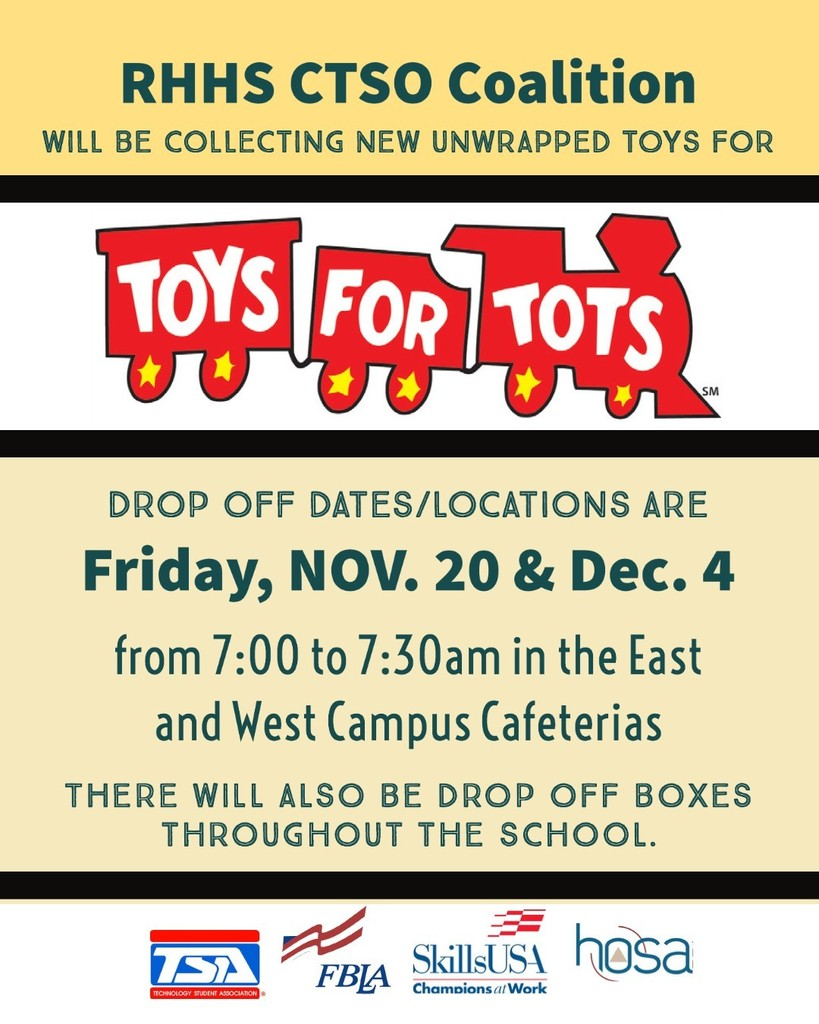 RHHS CTSO Coalition - Toys For Tots Drive
