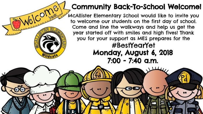 Community Back-To-School Welcome!