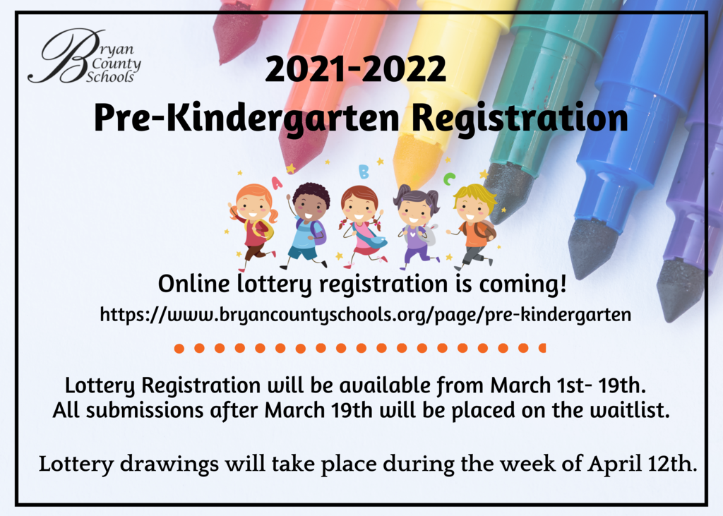 2021-2022 PreK Lottery Registration