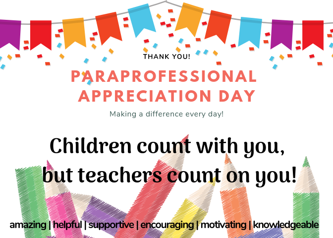 Paraprofessional Appreciation Day