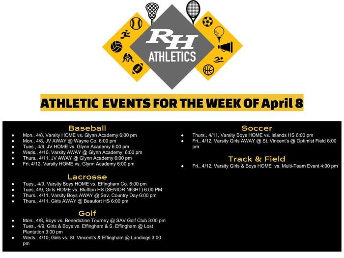 RHHS Athletics April 8-12