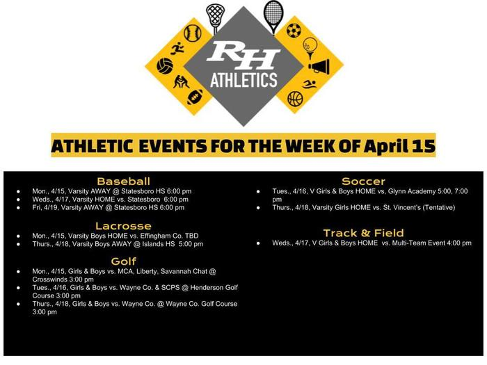 Athletics April 15
