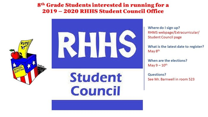 RHHS Student Council Elections