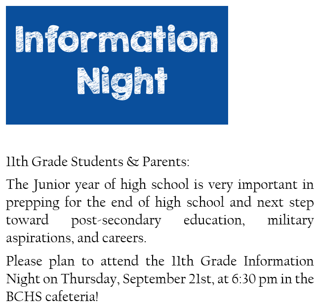 Info Night Juniors