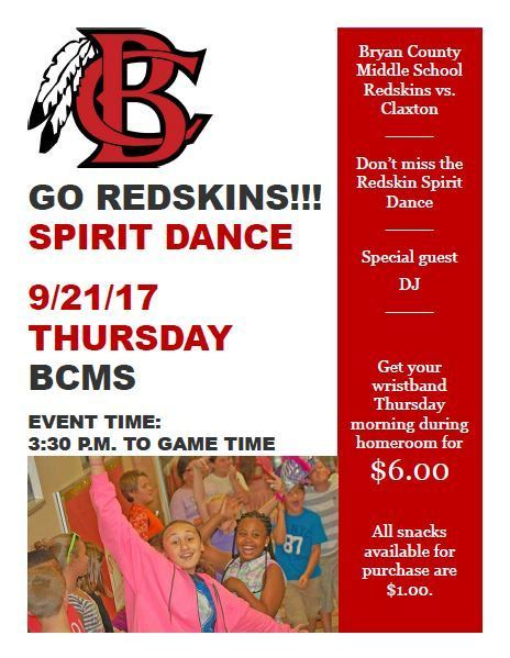 BCMS Spirit Dance: September 21st